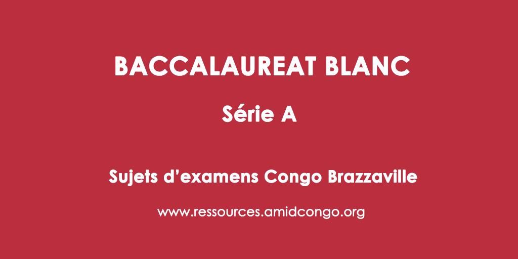 Français Bac Blanc 2017 Série A