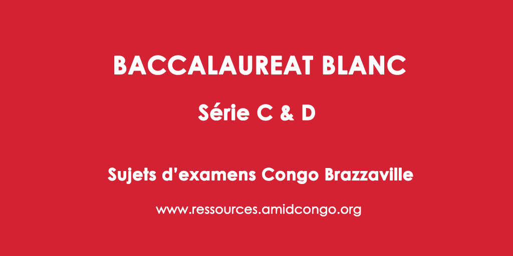 Anglais Bac Blanc 2018 Série C & D