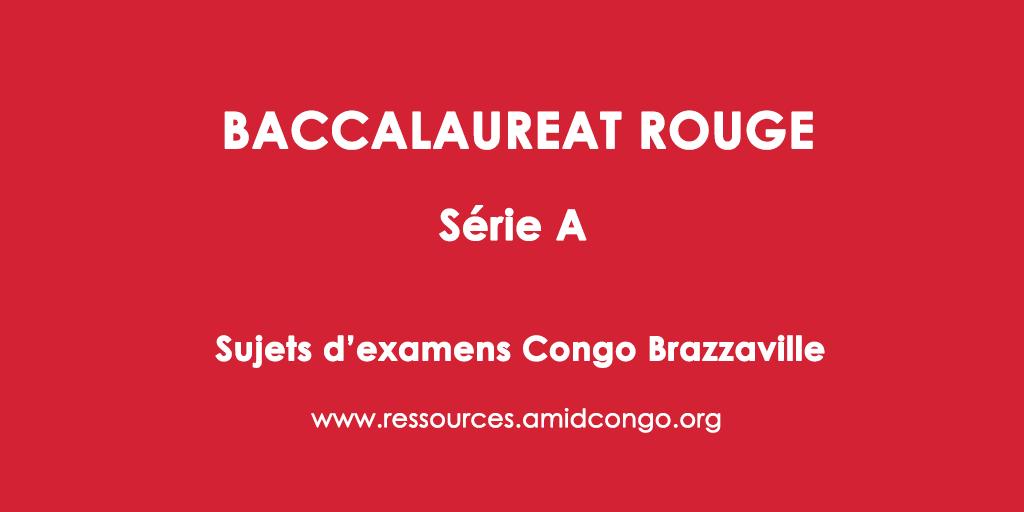 Philosophie Bac Rouge 2013 Série A